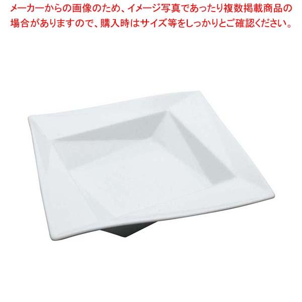 【まとめ買い10個セット品】 白変形 折り紙21cm平鉢 B12-14 メイチョー