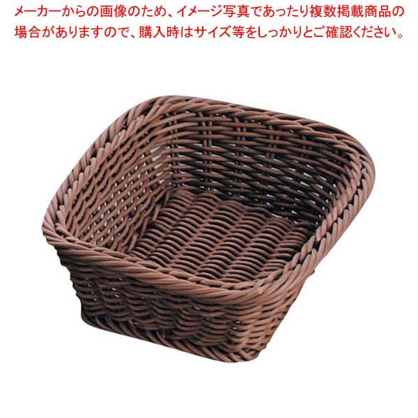 【まとめ買い10個セット品】 ザリーン社 PP製 スクウェアバスケット ブラウン 200061 メイチョー