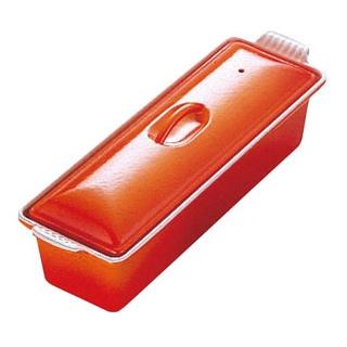 【まとめ買い10個セット品】 ル・クルーゼ テリーヌ・レクタ 32cm 2524 オレンジ メイチョー