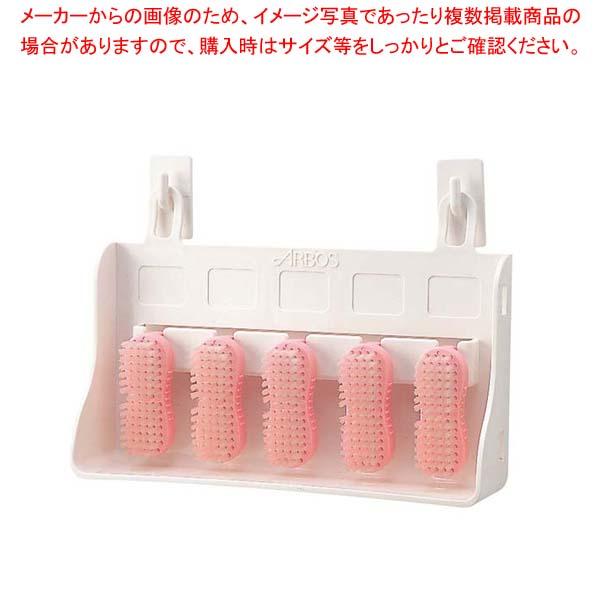 【まとめ買い10個セット品】アルボース ハンドブラシ 5ヶ入 ピンク【 清掃・衛生用品 】 【メイチョー】