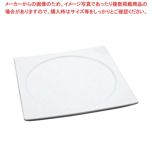 【まとめ買い10個セット品】 アルセラム 白変形 7 1/2角丸皿 EC12-37 メイチョー