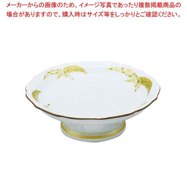 【まとめ買い10個セット品】 アルセラム強化食器 金彩扇高台皿 EC2-65 メイチョー
