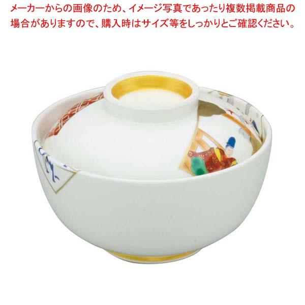 【まとめ買い10個セット品】 アルセラム強化食器 かるた絵丸蓋物 EC3-48 メイチョー