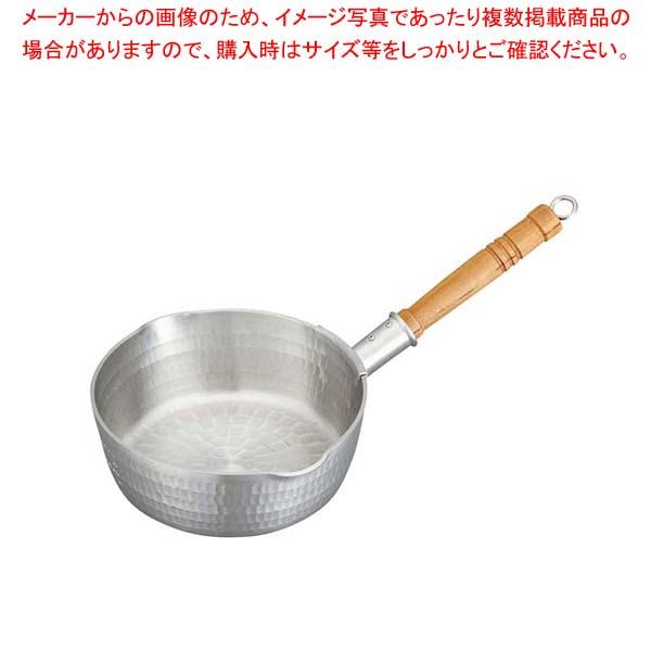 【まとめ買い10個セット品】 アルミ 底平 浅型打出 雪平鍋(目盛付)24cm メイチョー