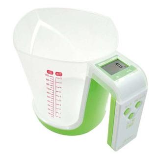 【まとめ買い10個セット品】 デジタル計量カップ ファリーヌ 1kg CS-100GN グリーン メイチョー