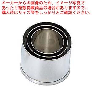 【まとめ買い10個セット品】 EBM 18-8 本職用厚口 抜型 3Pcs 丸型 メイチョー