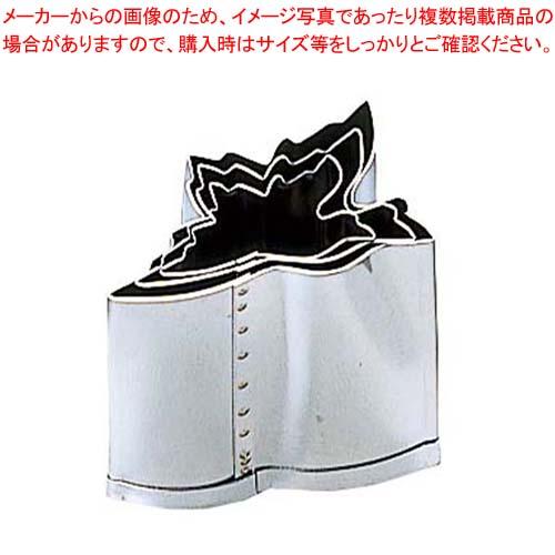 【まとめ買い10個セット品】 EBM 18-8 手造抜型 Aセット 鶴 3Pcs(#1~#3) メイチョー