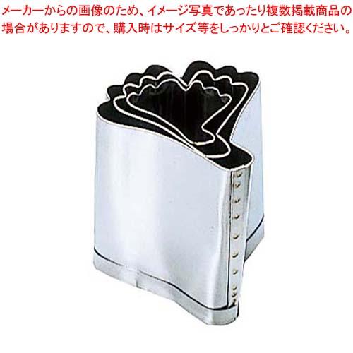 【まとめ買い10個セット品】 EBM 18-8 手造抜型 Bセット 銀杏 3Pcs(#1~#3) メイチョー