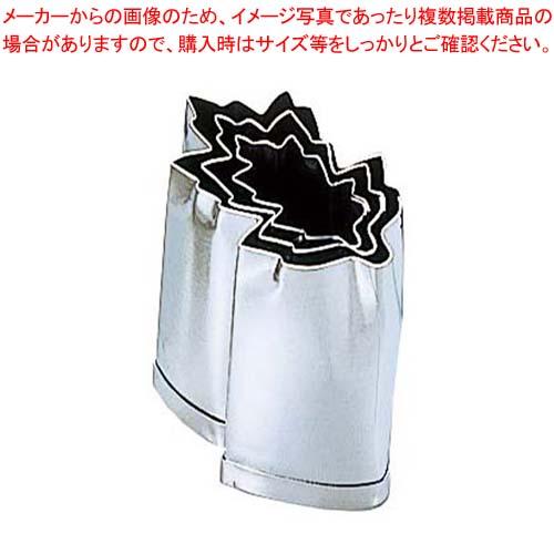 【まとめ買い10個セット品】 EBM 18-8 手造抜型 Bセット 菊の葉 3Pcs(#1~#3) メイチョー