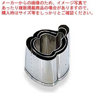 【まとめ買い10個セット品】 EBM 18-8 手造抜型 3Pcs 冬 サンタ メイチョー
