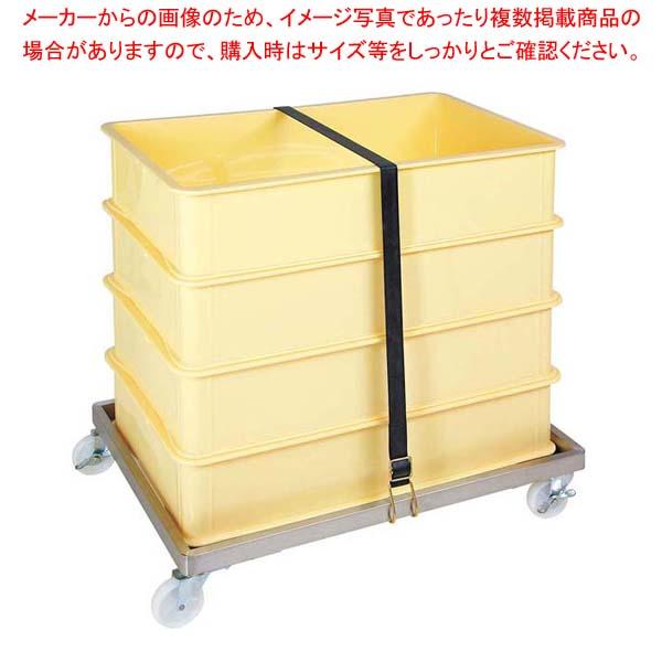 【まとめ買い10個セット品】 コンテナードーリー用ストラップ(ゴム製) メイチョー