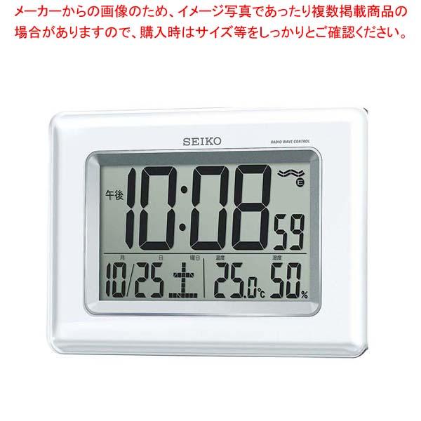 【まとめ買い10個セット品】 セイコー 掛置兼用電波時計 温湿度表示付 SQ424W 【 メーカー直送/後払い決済不可 】 メイチョー