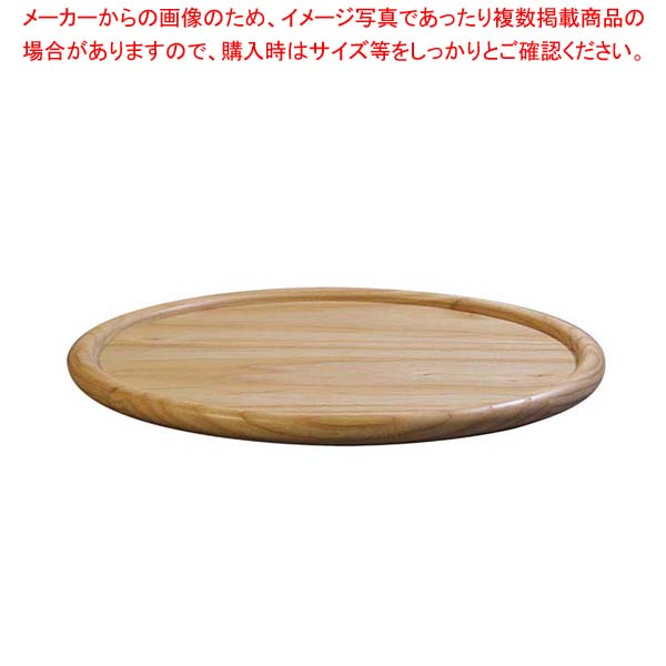 【まとめ買い10個セット品】 ホワイトアッシュ ラウンドトレー(ナチュラルカラー)130038 27cm メイチョー