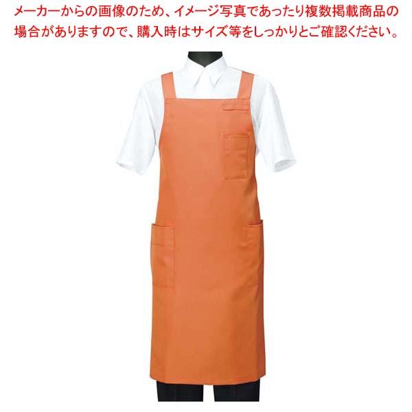 【まとめ買い10個セット品】 エプロン CT2566-3 オレンジ M メイチョー