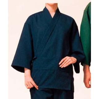 【まとめ買い10個セット品】 作務衣(男女兼用)KJ0020-1 紺 SS メイチョー