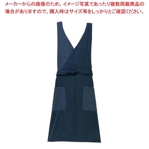 【まとめ買い10個セット品】 胸当て エプロン KE0050-1 紺 M メイチョー