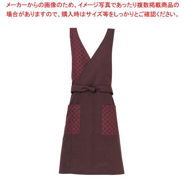 【まとめ買い10個セット品】 胸当て エプロン KE0050-6 茶 M メイチョー