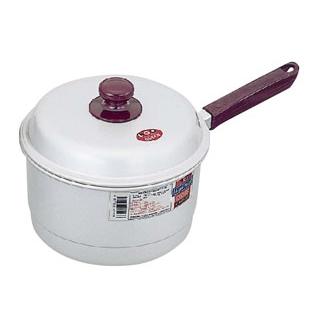 【まとめ買い10個セット品】 モアパールクイーン アルマイト 片手兼用鍋 20cm メイチョー