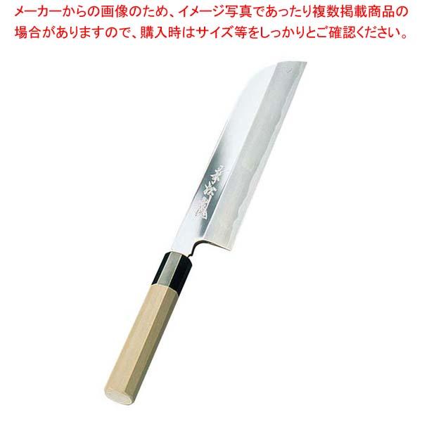 兼松作 鏡面仕上 鎌型薄刃庖丁 18cm sale 【20P05Dec15】 メイチョー