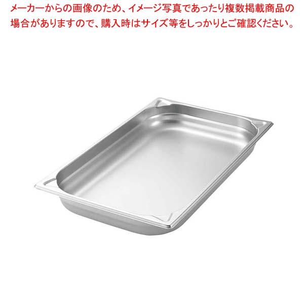【まとめ買い10個セット品】 プロシェフ 18-8 GNパン補強重なり防止付 1/4 65mm メイチョー