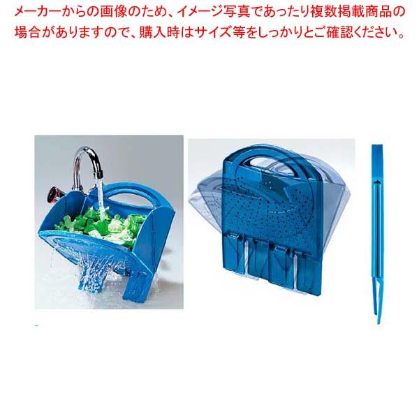 【まとめ買い10個セット品】 スコラ・トゥット(折りたたみ式水切り)ブルー メイチョー