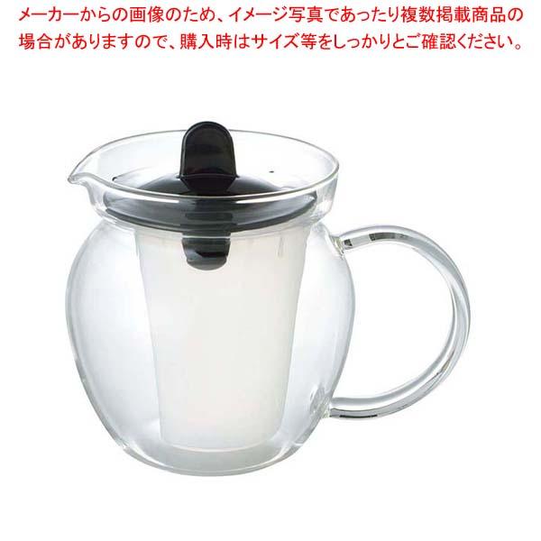 【まとめ買い10個セット品】 イワキ お茶ポット(ブラック)K853T-BK メイチョー