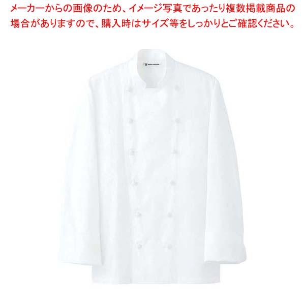 【まとめ買い10個セット品】 ドレスコックコート(男女兼用)AA461-3 ホワイト M メイチョー
