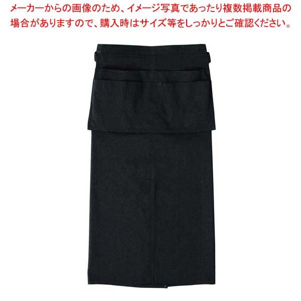 【まとめ買い10個セット品】 エプロン RT6872-9 ブラック メイチョー