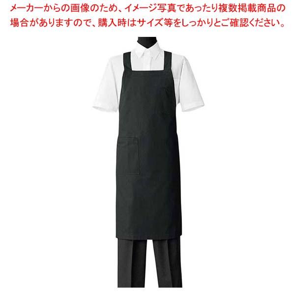 【まとめ買い10個セット品】 エプロン CT2498-9 ブラック メイチョー