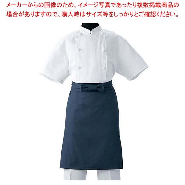 【まとめ買い10個セット品】 調理前掛 JT4551-1 ダークブルー L メイチョー