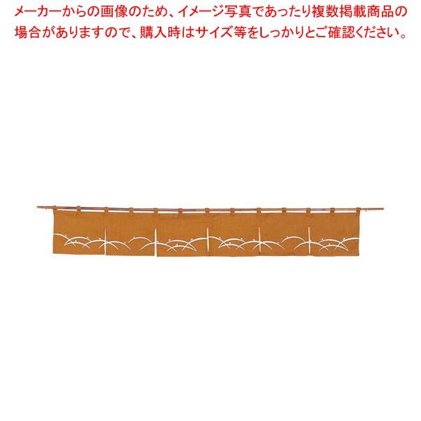 【まとめ買い10個セット品】 露芝 のれん N106-09 金茶 1700×250 メイチョー
