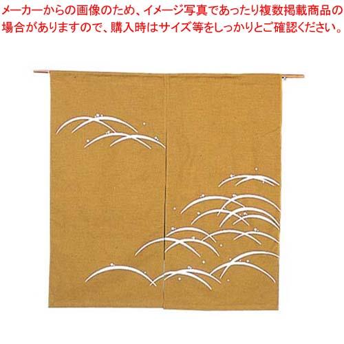 【まとめ買い10個セット品】 露芝 のれん N106-04 金茶 850×900 メイチョー