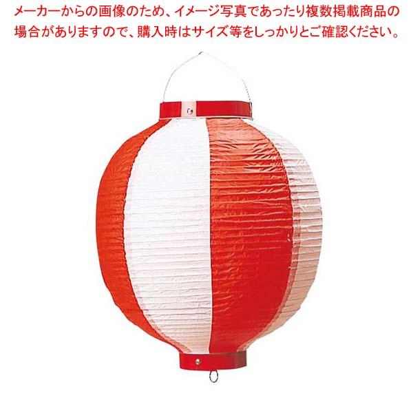 【まとめ買い10個セット品】 丸 ビニール提灯 10号 赤/白 メイチョー