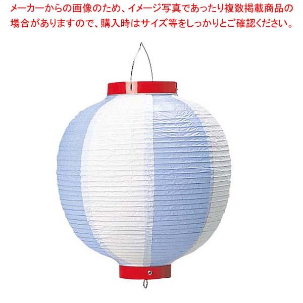 【まとめ買い10個セット品】 丸 ビニール提灯 10号 青/白 メイチョー