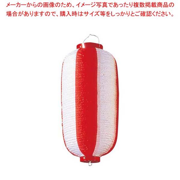 【まとめ買い10個セット品】 長 ビニール提灯 9号 赤/白 メイチョー