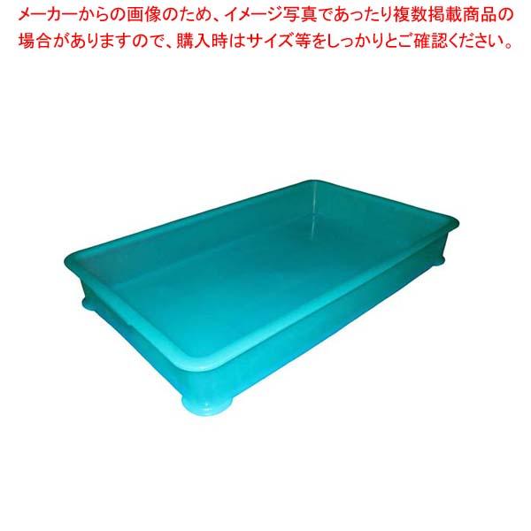 【まとめ買い10個セット品】 EBM PP半透明カラー番重 B型 特大 グリーン(サンコー製) 【メイチョー】【 運搬・ケータリング 】