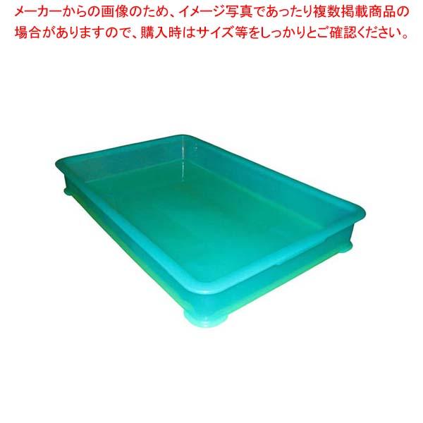 【まとめ買い10個セット品】 EBM PP半透明カラー番重 B型 大 グリーン(サンコー製) メイチョー