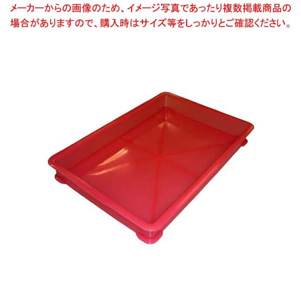 【まとめ買い10個セット品】 EBM PP半透明カラー番重 B型 小 レッド(サンコー製) メイチョー
