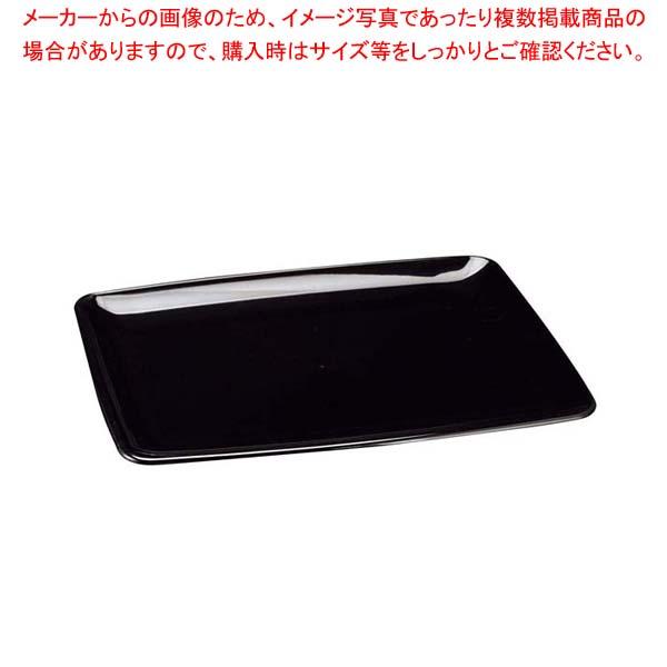 【まとめ買い10個セット品】 セイバート ブラックプラッター長方形(20入)20×28cm メイチョー