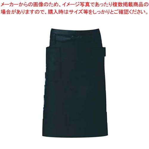 【まとめ買い10個セット品】 エプロン T-6232 ブラック メイチョー