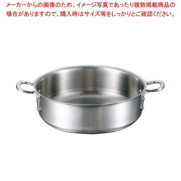 【まとめ買い10個セット品】 EBM ビストロ 三層クラッド 外輪鍋 33cm 蓋無 メイチョー