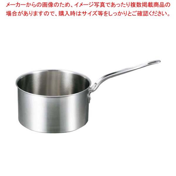 【まとめ買い10個セット品】 EBM ビストロ 三層クラッド 深型片手鍋 21cm 蓋無 メイチョー
