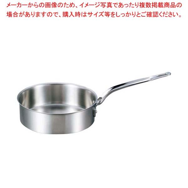 【まとめ買い10個セット品】 EBM ビストロ 三層クラッド 浅型片手鍋 15cm 蓋無 メイチョー