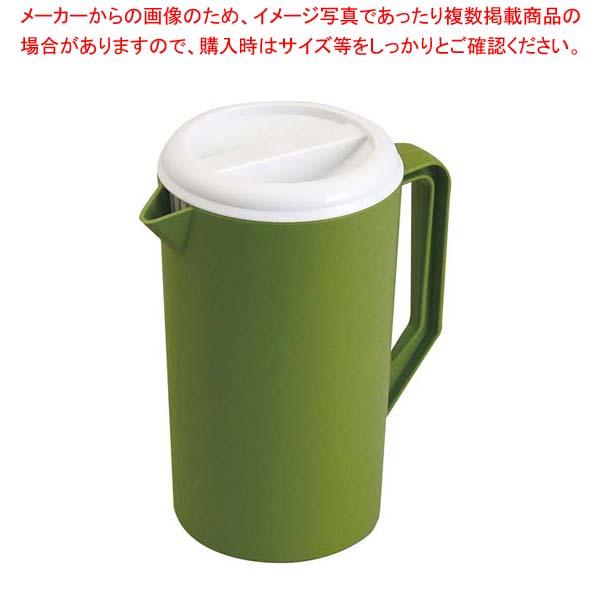 【まとめ買い10個セット品】 EBM ウォーターピッチャー 抗菌剤入 グリーン メイチョー