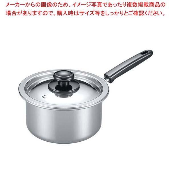 【まとめ買い10個セット品】 EBM モリブデン 実用鍋(片手)18cm メイチョー