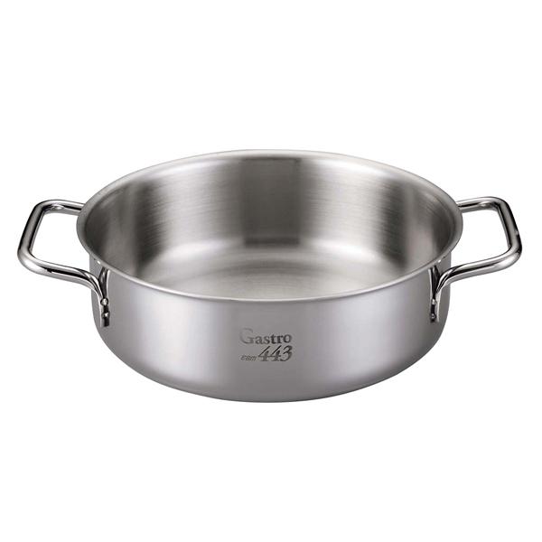 【まとめ買い10個セット品】 EBM Gastro 443 外輪鍋(蓋無)30cm メイチョー