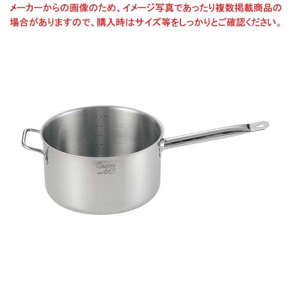 【まとめ買い10個セット品】EBM Gastro 443 深型片手鍋(蓋無)28cm 向い手付【 IH・ガス兼用鍋 】 【メイチョー】