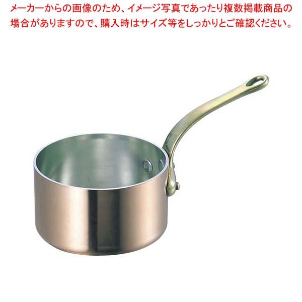 SW 銅 極厚 深型 片手鍋 蓋無(真鍮柄)27cm 【メイチョー】