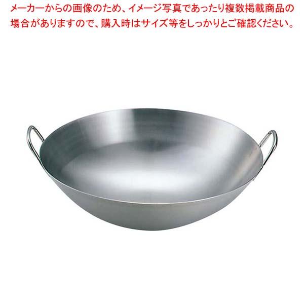 クローバー 18-8 中華両手鍋 57cm(板厚1.5mm) 【メイチョー】