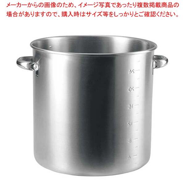 19-0 電磁対応 寸胴鍋(目盛付)36cm(蓋無) 【メイチョー】